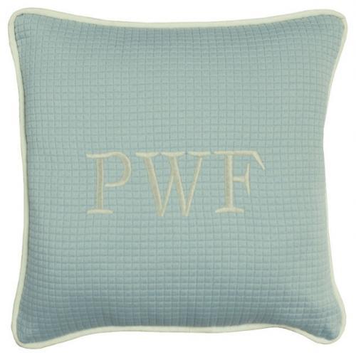 Spa Blue Throw Pillows : Spa Blue Throw Pillow At The Pink Monogram